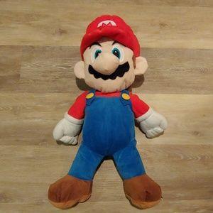 "Rare Super Mario Large 24"" Plush with Back Pocket"